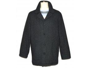 Vlněný pánský zateplený šedý kabát Conwell M