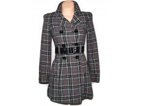 Bavlněný dámský šedý kabát s páskem XS
