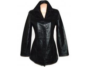 KOŽENÝ dámský černý měkký kabát Thomas&Daniels L