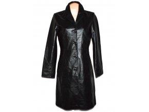 KOŽENÝ dámský černý měkký dlouhý kabát JCC Collection L