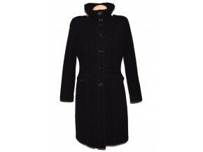 Vlněný (75%) dámský dlouhý černý kabát (vlna, kašmír) NEXT M/L