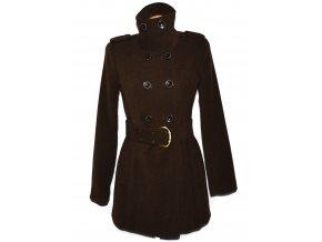 Dámský hnědý kabát s páskem Melrose S/M