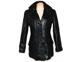 KOŽENÝ dámský černý měkký kabát Real Leather L