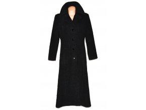 Vlněný dámský dlouhý šedočerný kabát Carlo Cecci (vlna, kašmír) 40