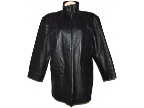 KOŽENÝ dámský měkký kabát na zip Martinek XXL