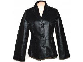 KOŽENÉ dámské černé sako 5th Avenue L