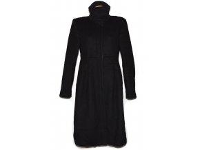 Vlněný (93%) dámský dlouhý černý kabát GAP L