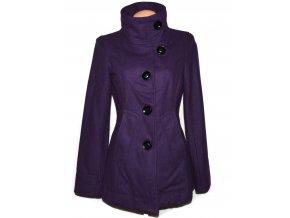 Vlněný dámský fialový kabát ONLY M