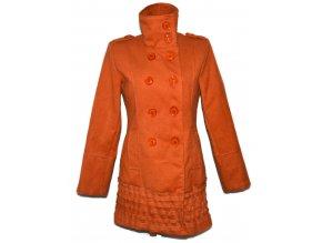 Dámský oranžový kabát M