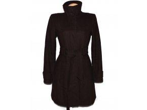 Vlněný dámský hnědý kabát s páskem L