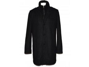 Vlněný pánský černý kabát Clockhouse XL