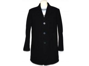 Vlněný pánský šedočerný kabát Móda Prostějov 56