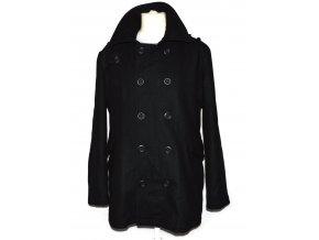 Vlněný pánský černý kabát Benfish M/L