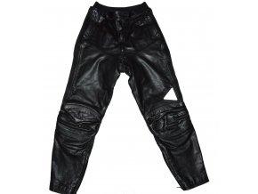 KOŽENÉ MOTORKÁŘSKÉ černé kalhoty Gericke 40