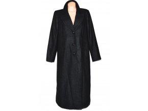 Vlněný dámský dlouhý šedočerný kabát ASOS