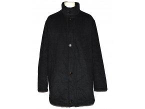 Vlněný pánský šedočerný zateplený kabát Pierre Cardin