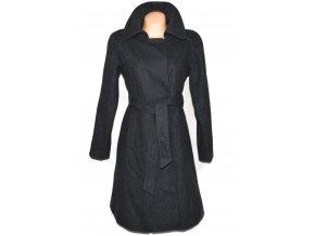 Vlněný dámský dlouhý šedý kabát s páskem Nine West