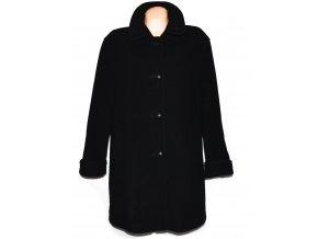 Vlněný dámský černý kabát (vlna, kašmír) XXXL+