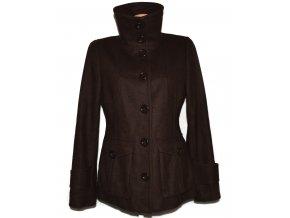 Vlněný dámský hnědý kabát H&M 40