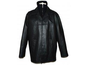 KOŽENÁ pánská černá měkká zateplená bunda CERO L