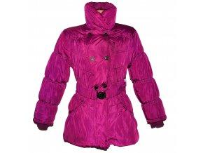 Dámský fialový zateplený šusťákový kabát s páskem S