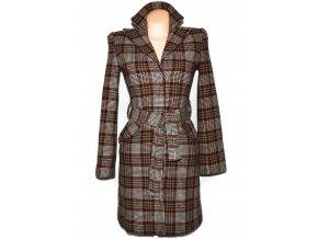 Vlněný dámský barevný kabát s páskem CLOCKHOUSE
