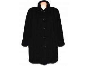 Vlněný dámský černý zateplený kabát M-Style (vlna, kašmír) XXXL