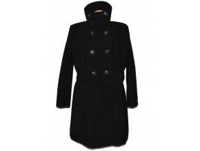 Vlněný dámský černý kabát s páskem C&A - Yessica 24/50