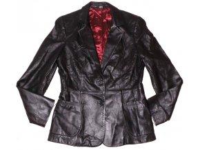 KOŽENÝ dámský černý měkký kabát Marks&Spencer M