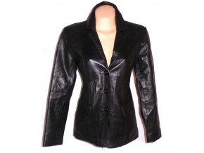 KOŽENÉ dámské černé měkké sako M