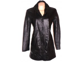 KOŽENÝ dámský černý kabát TREKWAY LONDON M/L