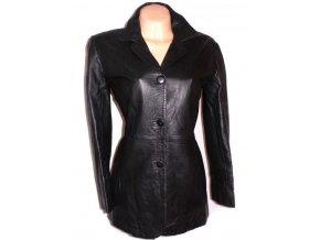 KOŽENÝ dámský černý měkký kabát Classic Woman L