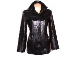 KOŽENÝ dámský černý měkký kabát KOOKIE M