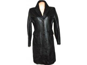 KOŽENÝ dámský černý měkký kabát UK 12, UK 14