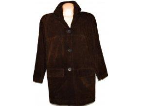 KOŽENÝ dámský hnědý kabát Helline XXL