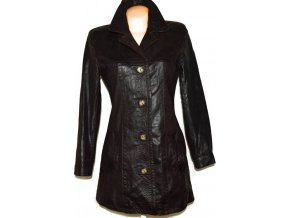KOŽENÝ dámský hnědý kabát Proud Foot M