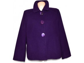 Dámský fialový kabát BM XXL