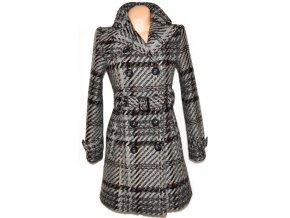 Vlněný dámský šedý kabát s páskem ORSAY 38