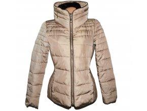 Dámská béžová prošívaná šusťáková bunda na zip CAMAIEU
