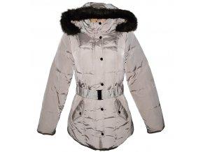 Dámský béžový šusťákový kabát s páskem a kapucí ORSAY 38