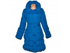 Dámský modrý šusťákový kabát s páskem UK 14