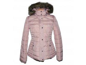 Dámská šusťáková starorůžová bunda s kapucí Jean Pascale