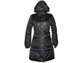 Dámský šedý šusťákový kabát s páskem a kapucí Glo-Story S