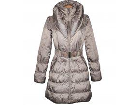 Dámský hnědý šusťákový kabát s páskem a límcem ORSAY 38