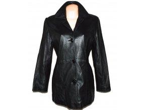 KOŽENÝ dámský černý měkký kabát KPL M