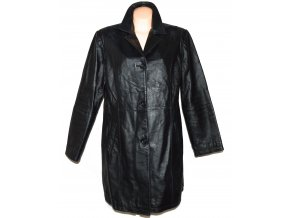 KOŽENÝ dámský černý kabát C&A 18/44