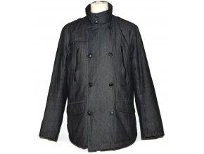 Pánský šedočerný zateplený kabát Reserved XL