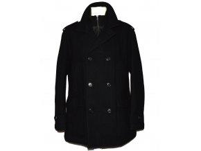 Vlněný pánský černý zateplený kabát F&F XL