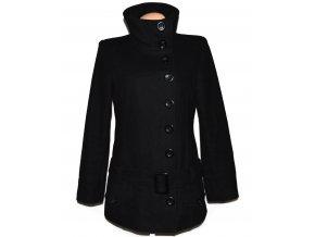 Vlněný dámský černý kabát s páskem NEW LOOK 12/40
