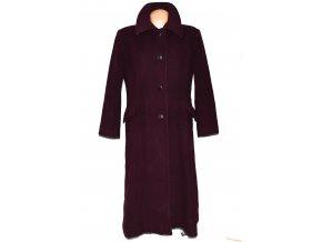 Vlněný (80%) dámský dlouhý fialový kabát XXL